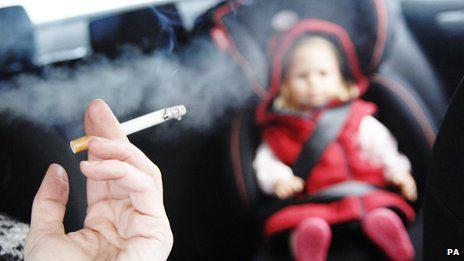 Smoking in car