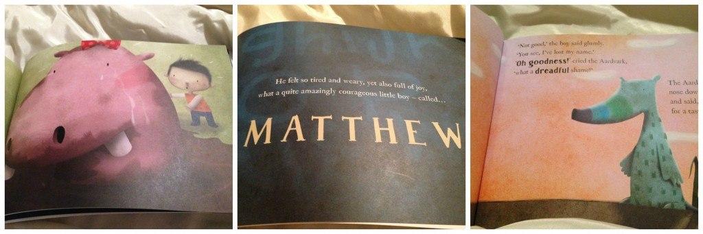 Matthew book collage