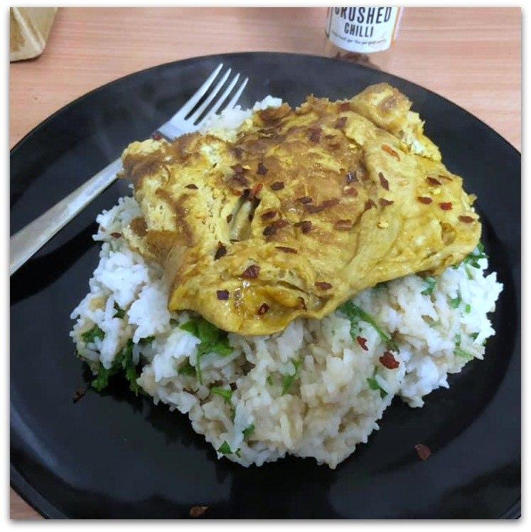 omelette & rice