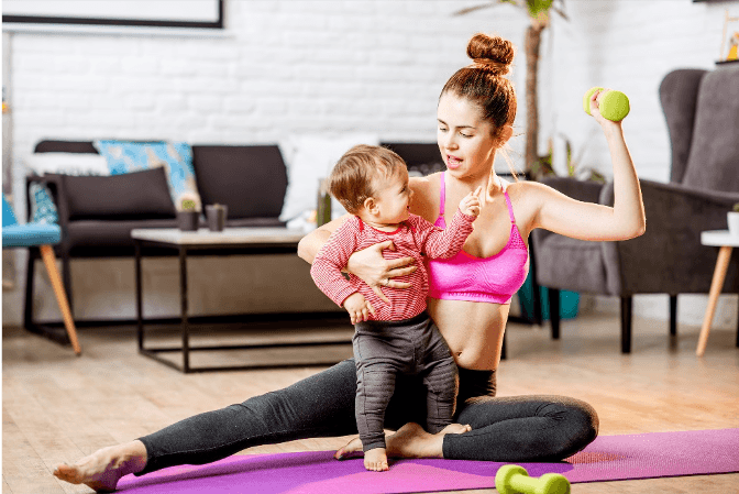 tips to keep fit and healthy with a newborn is helpful.
